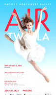 Poster for Pacific Northwest Ballet's AIR Twyla | Chelsea Adomaitis
